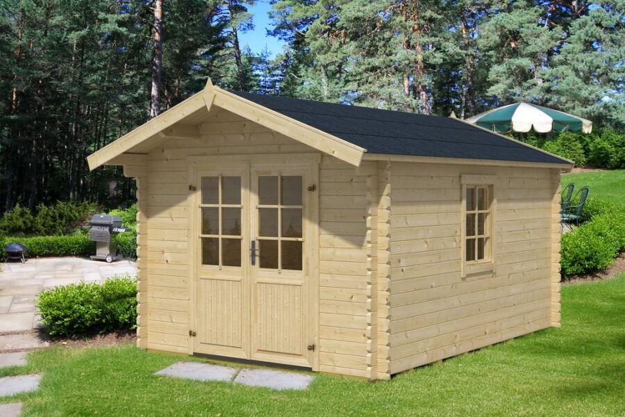 gartenhaus 40mm 296x396cm mit fu bodenpaket. Black Bedroom Furniture Sets. Home Design Ideas