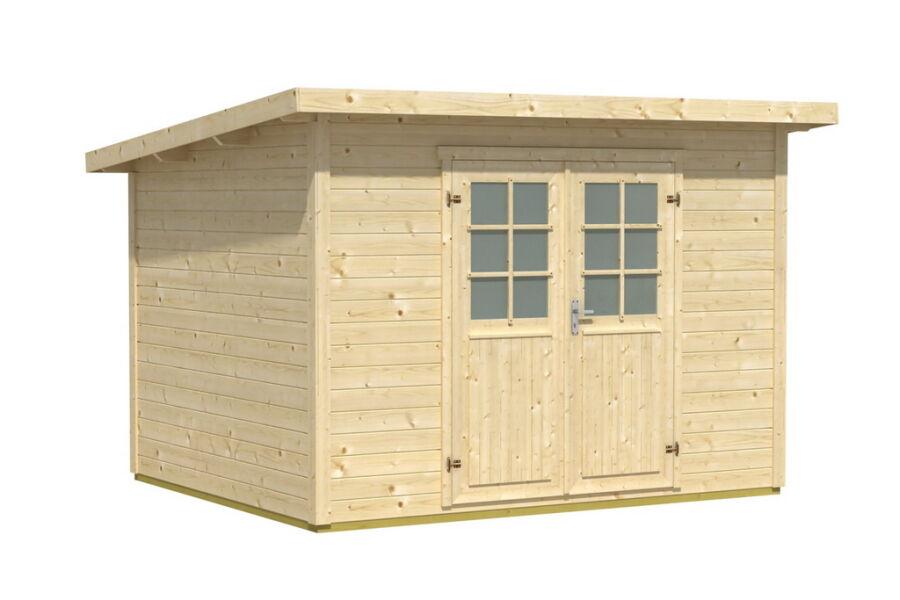Gartenhaus 28mm 300x200cm mit Fußboden Flachdach, 779,00 €