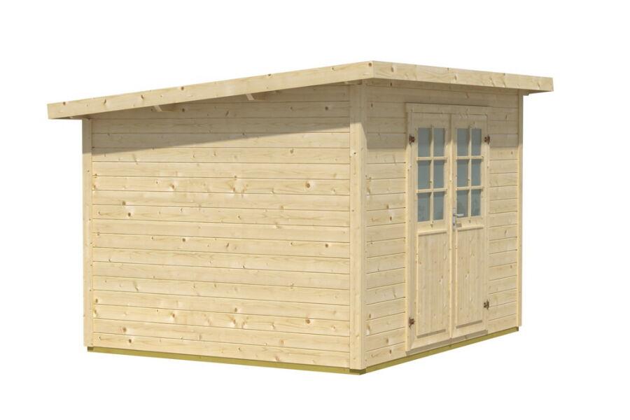 flachdachhaus 300x300cm 28mm mit fu boden 949 00. Black Bedroom Furniture Sets. Home Design Ideas