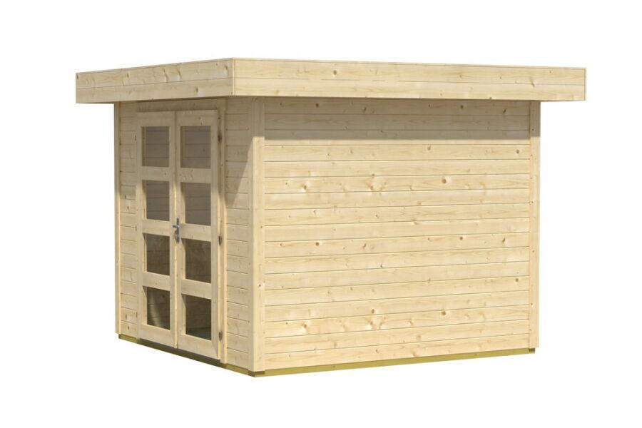 gartenhaus inka 1 flachdach 250x250 cm 28mm bohlen ohne boden 859. Black Bedroom Furniture Sets. Home Design Ideas