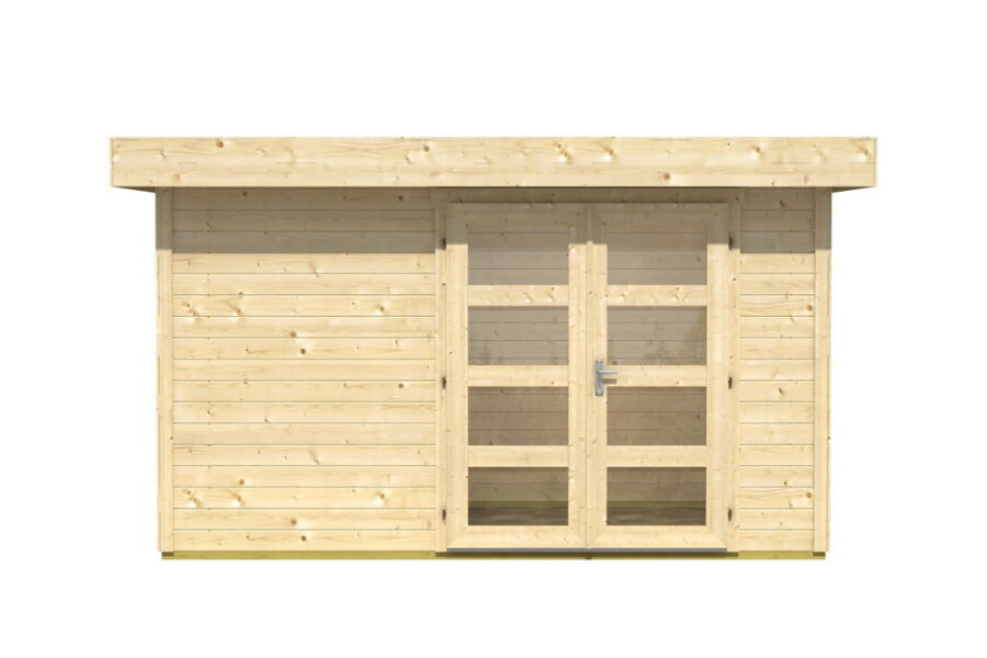 gartenhaus inka 2 flachdach 350x250 cm 28mm bohlen ohne boden. Black Bedroom Furniture Sets. Home Design Ideas