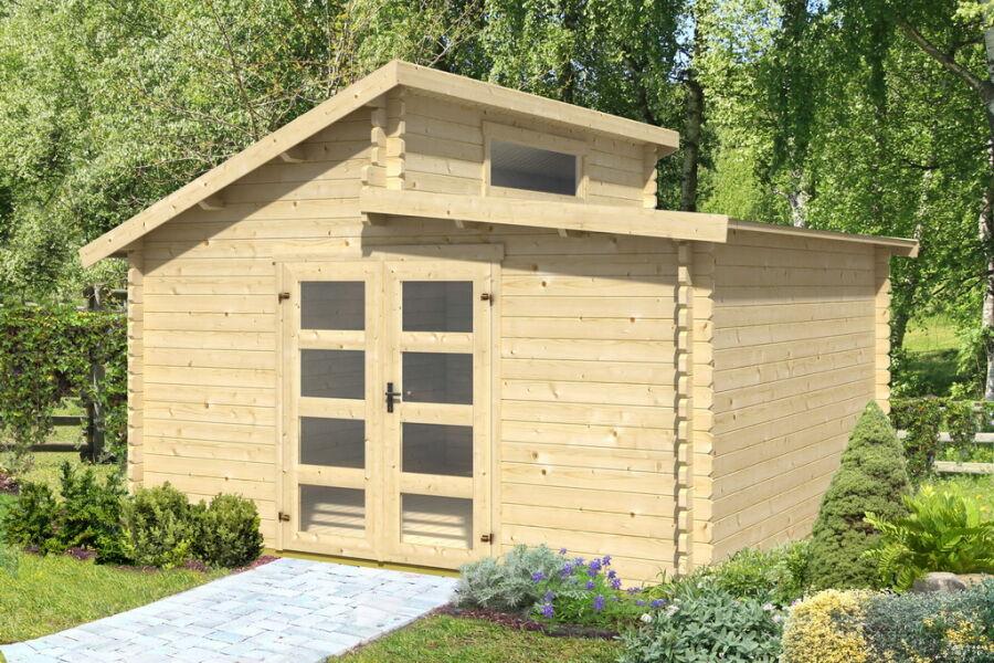 Raters Gartenhaus gartenhaus 40mm doppelnut 400x400cm mit boden 1 729 00