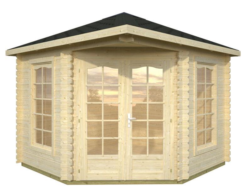 gartenhaus 300x300cm 28mm bohlen ohne boden gro e fenster. Black Bedroom Furniture Sets. Home Design Ideas