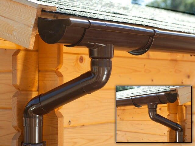 dachrinnen set 100 mm 89 00. Black Bedroom Furniture Sets. Home Design Ideas