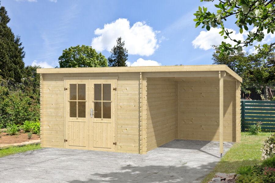 gartenhaus tampa topgarden 2976 292x501 cm 28mm blockbohlen 200 cm. Black Bedroom Furniture Sets. Home Design Ideas