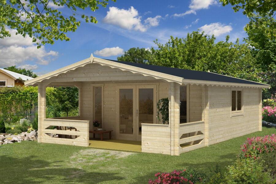 Gartenhaus Cora 6x5m +2m Terrasse