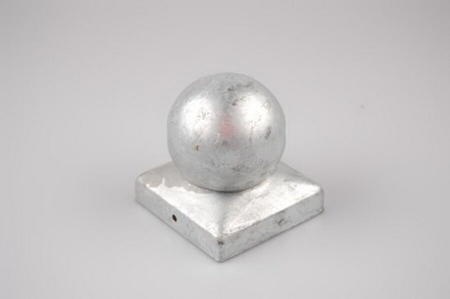 Pfostenkappe mit Kugel verzinkt 91x91 mm, 2,95 €