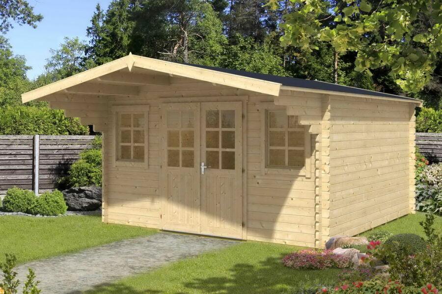 gartenhaus 500x400cm 40mm bohlen mit boden iso. Black Bedroom Furniture Sets. Home Design Ideas