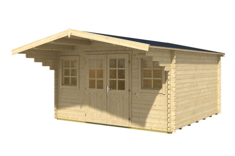 gartenhaus 500x500cm iso 40mm bohlen mit fu boden. Black Bedroom Furniture Sets. Home Design Ideas