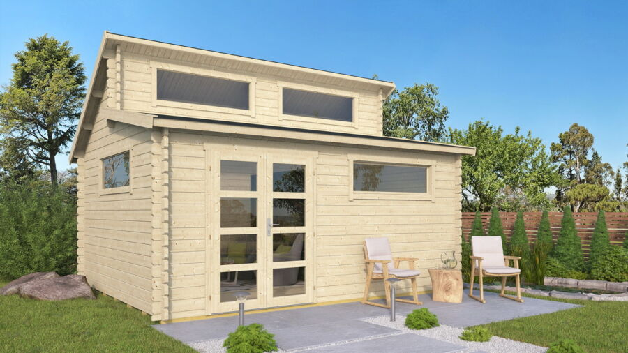 Raters Gartenhaus gerätehaus 500x400cm iso verglasung 40mm bohlen mit boden 2 349 00