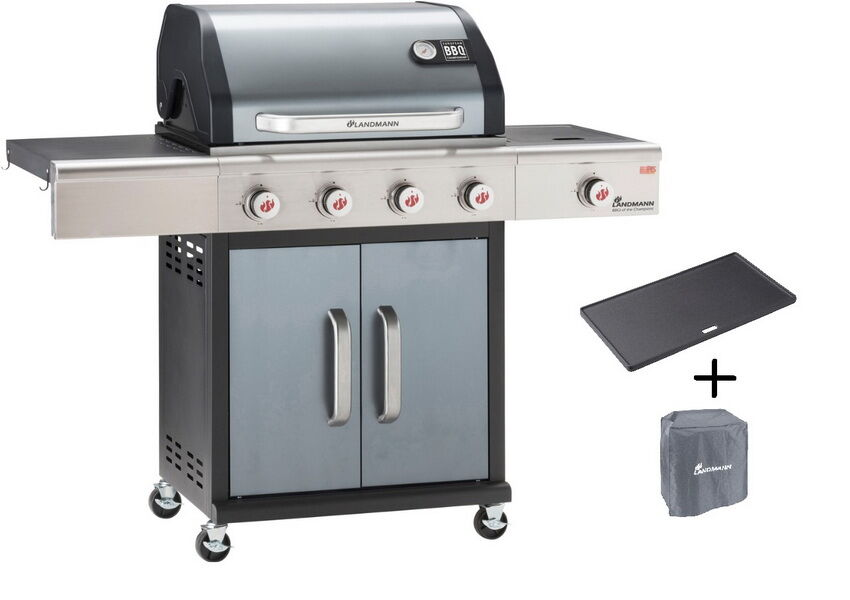 Landmann Gasgrill Brennerabdeckung : Landmann gasgrill premium pts anthrazit barbecue of the