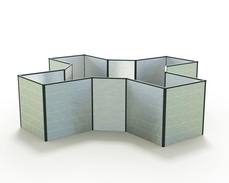 Hochbeet Aluminium Ines 290x290x77 Cm 779 00