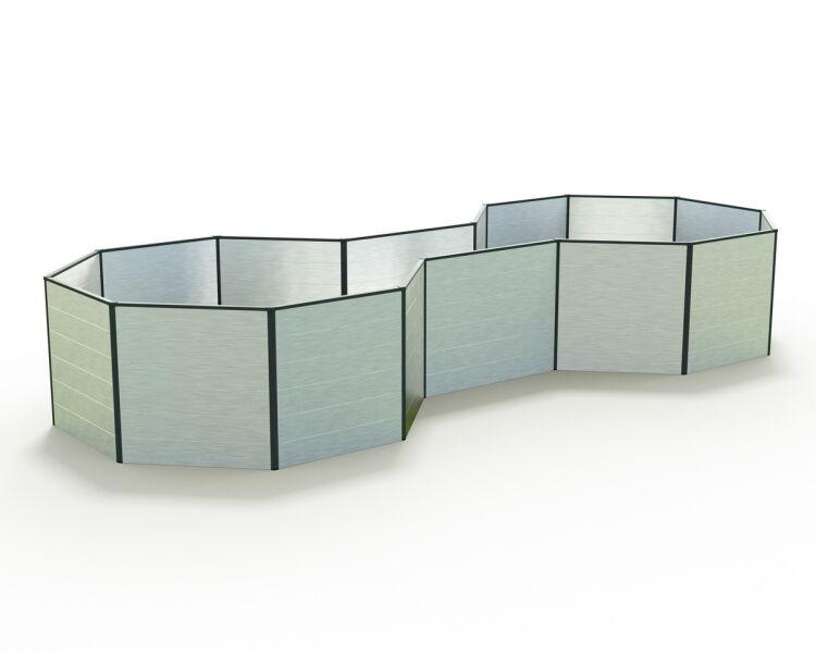 hochbeet aluminium sabine 331x113x77 cm 669 00. Black Bedroom Furniture Sets. Home Design Ideas