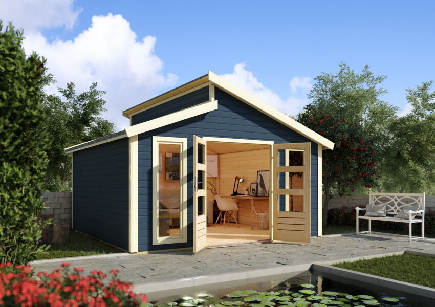 gartenh user 40 45 mm stufendach. Black Bedroom Furniture Sets. Home Design Ideas