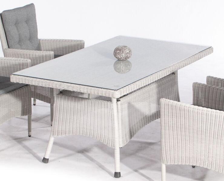 Sunny Smart Gartentisch Midland Alu Kunststoffgeflecht Silber Grau