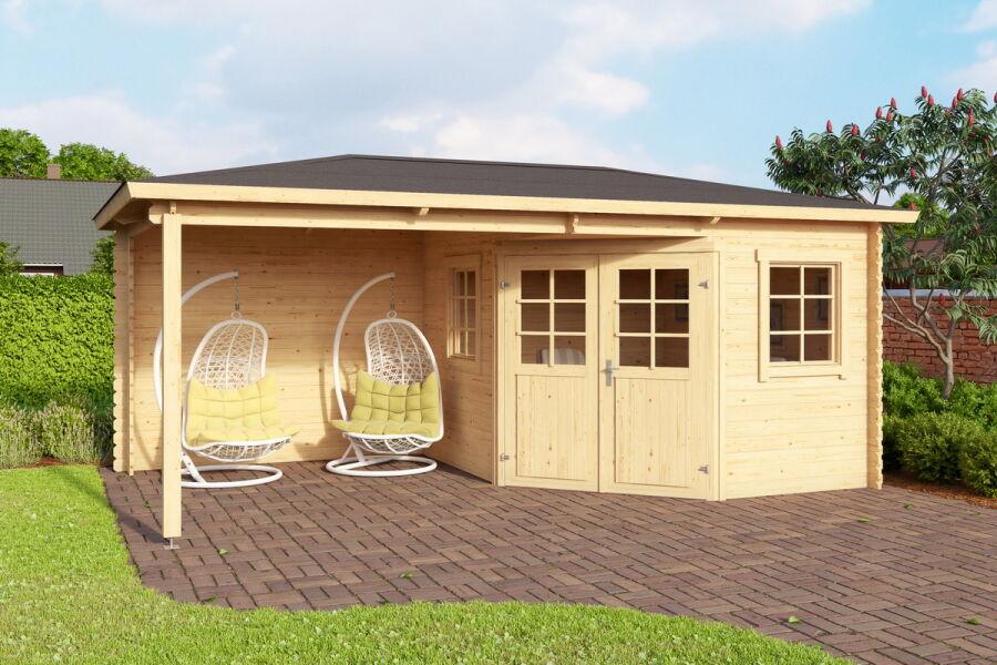 gartenhaus holstein 5 eck 240x280 cm sockelmass 240 cm. Black Bedroom Furniture Sets. Home Design Ideas