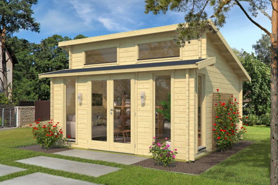 gartenhaus 420x320cm 44mm bohlen ohne boden iso 3 fenster. Black Bedroom Furniture Sets. Home Design Ideas