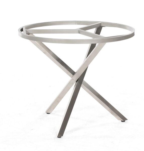 Edelstahl Tischgestell Rund.Sonnenpartner Tischgestell Base Spectra Rund Edelstahl 90cm Für Tischplpatte 100 Cm Rund